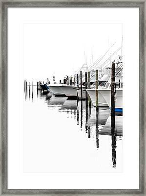 White Boats I Framed Print by Dan Carmichael