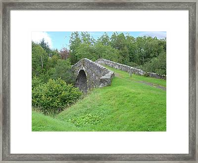 Framed Print featuring the photograph White Bridge Scotland by Charles and Melisa Morrison