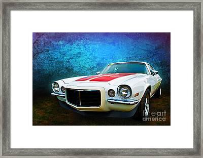 White Camaro Framed Print
