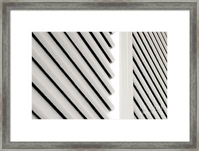 White Closet Door Detail Framed Print