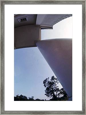 White Columns Framed Print by Jan W Faul