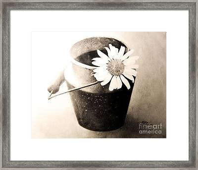 White Daisy Framed Print by Muna Abdurrahman