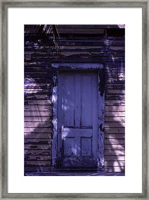 White Door Framed Print by Bob Whitt