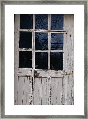 White Door Framed Print by Margaret Steinmeyer