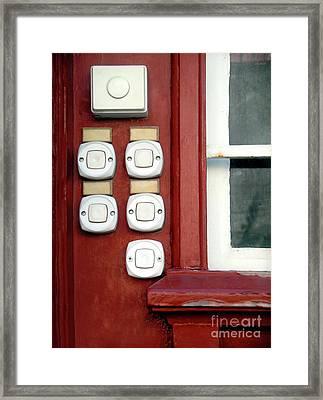 White Doorbells Framed Print