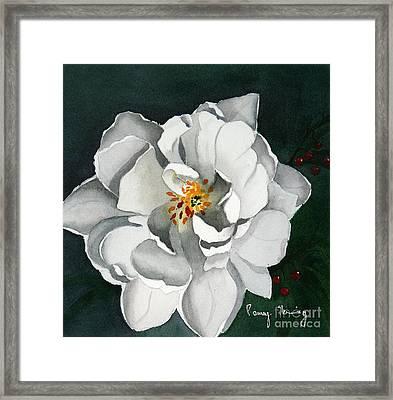 White Double Tulip Framed Print