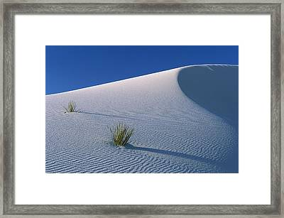 White Dunes In Gypsum Dune Field, White Framed Print by Konrad Wothe