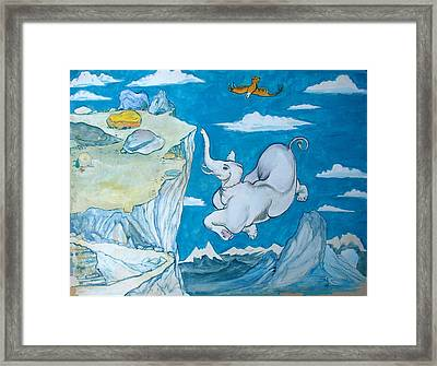 White Elephant Framed Print