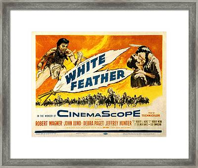 White Feather, Jeffrey Hunter, Robert Framed Print by Everett