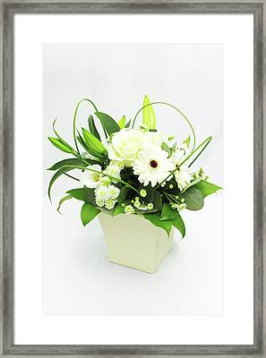 White Flower Bouquet Framed Print by © S.Musgrove