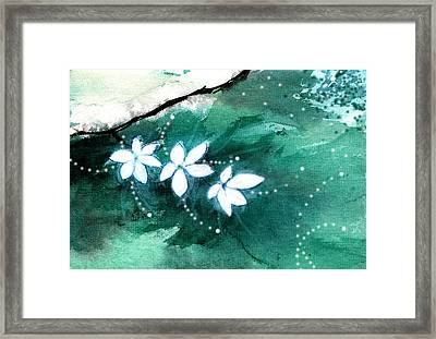 White Flowers Framed Print by Anil Nene