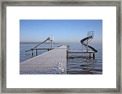 White Frost Slide Framed Print by Ralf Kaiser