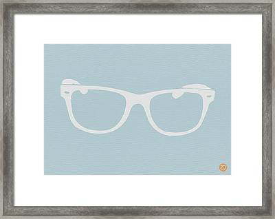 White Glasses Framed Print