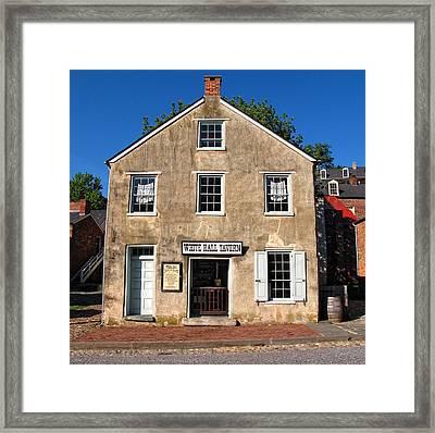 White Hall Tavern Harpers Ferry Virginia Framed Print
