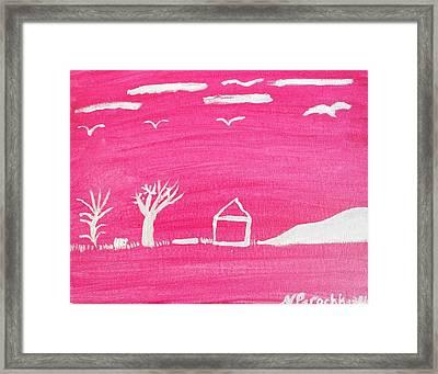 White Hill Framed Print