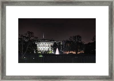 White House At Christmas Framed Print