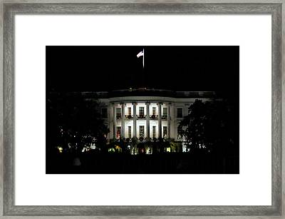 Framed Print featuring the photograph White House In December by Suzanne Stout