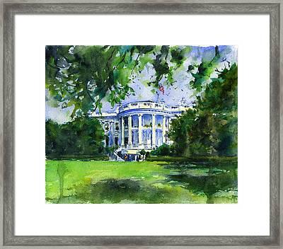 White House Framed Print by John D Benson