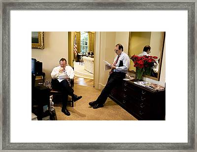 White House Press Secretary Robert Framed Print by Everett