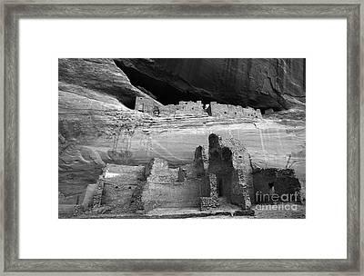 White House Ruin Canyon De Chelly Monochrome Framed Print by Bob Christopher