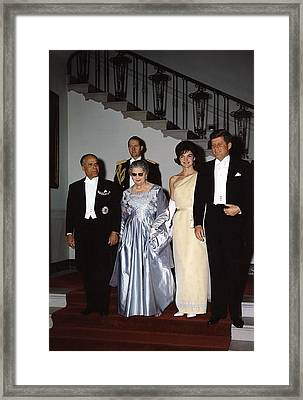 White House State Dinner Quests Framed Print