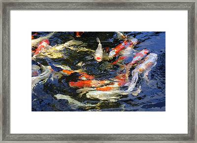 White In The Middle Framed Print