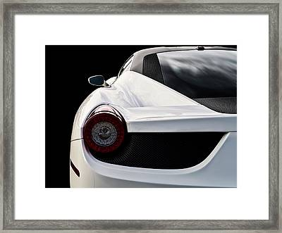 White Italia Framed Print by Douglas Pittman