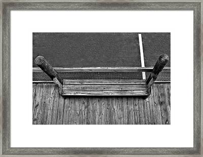 White Line Framed Print