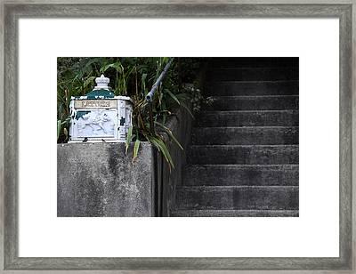 White Mailbox Framed Print