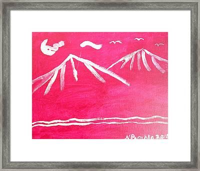 White Mountains Framed Print