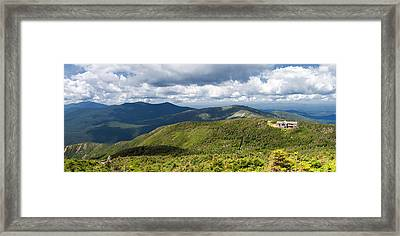 White Mountains New Hampshire Panorama Framed Print by Stephanie McDowell