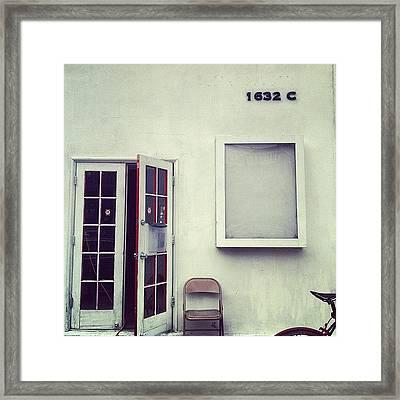 White Noise Framed Print
