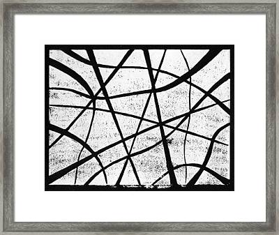White On Black Framed Print