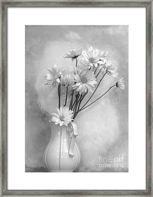 White On White Framed Print by Marsha Heiken