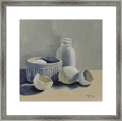 White On White Framed Print by Torrie Smiley
