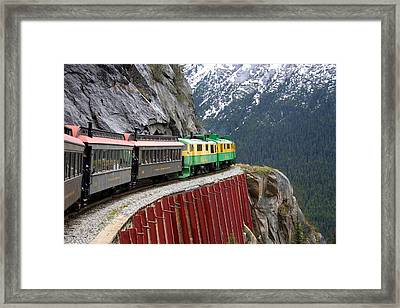 Framed Print featuring the photograph White Pass Train Ride by Laurel Talabere