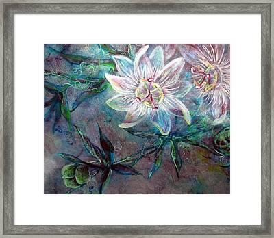 White Passion Framed Print