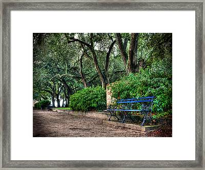 White Point Gardens Bench Framed Print by Jenny Ellen Photography