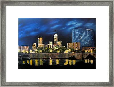 White River Walk Framed Print