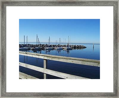 Framed Print featuring the photograph White Rock by Sheila Silverstein