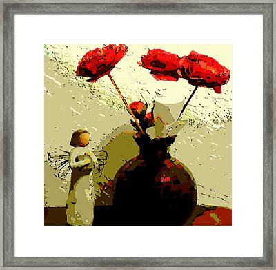 White Rose Framed Print by David Alvarez