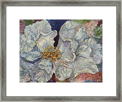 White Rose Framed Print by Erin Libby