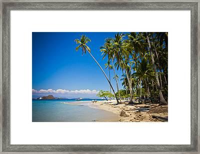 White Sand Beach Framed Print by Anthony Doudt