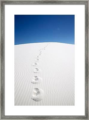 White Sand Framed Print by Snow  White