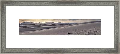 Framed Print featuring the photograph White Sands Desert Panorama by Mike Irwin