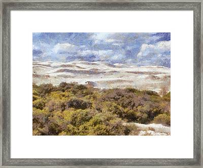 Framed Print featuring the digital art white sands in Lancelin by Roberto Gagliardi