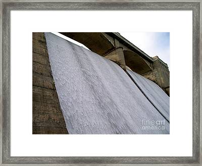 Framed Print featuring the photograph White Sheets Of Water by Mark Dodd