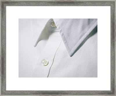 White Shirt Collar Detail. Framed Print