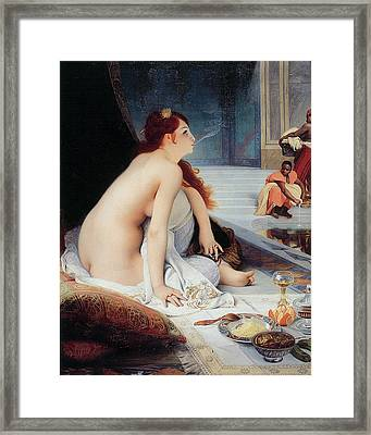 White Slave Framed Print by Jean-Jules Antoine Lecomte Du Nouy