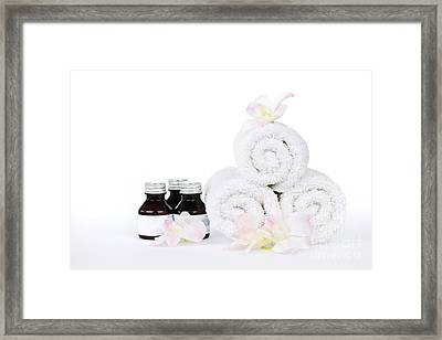 White Spa Framed Print